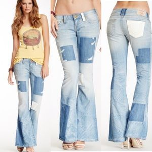 True Religion | Carrie Patchwork Flare Jeans 26